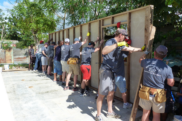 Employees Building Houses in the Dominican Republic